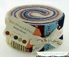 Moda RED WHITE & FREE Sandy Gervais JELLY ROLL 40 strips Quilting