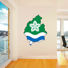 CUMBRIA COUNTY FLAG MAP UK sticker wall art decal car caravan wall
