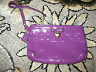 COACH~EMBOSSED~SIGNATURE~LIQUID GLOSS~WRISTLET/WALLET/CLUTH~PURPLE~GLOSSY~49562