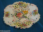 Antique Soft Paste Porcelain Bowl Italy Hand Made 3D Floral Bouquet Basket RARE