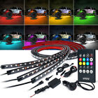 Xprite 4x RGB 8 Color LED Strip Under Car Tube Underglow Underbody System Lights