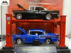 M2 Machines 1955 Chevrolet Bel Air Auto Lift 2 Pack R12 1:64 ClamShell