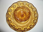 Bartlett & Collins Glass Manhattan Amber Chip & Dip Bowl Bullseye Pattern