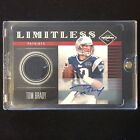 TOM BRADY 2011 PANINI LIMITED LIMITLESS GAME WORN JERSEY RELIC AUTO SP #14 15 !!