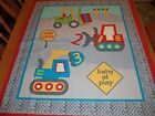 FABRIC QUILT TOP PANELS - CONSTRUCTION, DINOSAUR, SWEET MEADOW - BY THE PANEL
