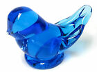 ART GLASS BLUEBIRD OF HAPPINESS FIGURINE PAPERWEIGHT SIGNED LEO WARD 1996 2.75