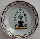 18th c, 1790 FRENCH FAIENCE Revolutionary Plate, Tomb of Mirabeau #2
