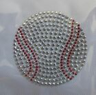 5075 2 5 8 Baseball Rhinestone Studs Iron On Transfer Hot Fix Baseball