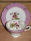 UNMARKED LAVENDER PINK LUSTER WILDFLOWER THISTLE BOUQUET TEA CUP