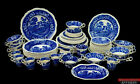 Lot of 55 Spode Copeland Tower Blue Older Gadroon Mark Floral Scenic Plates Cups