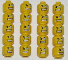LEGO LOT OF 20 NEW MINIFIGURE PIRATE HEADS WITH JEWEL EYE