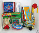 TIN-toy WIND-UP Schylling ELEPHANT, FLYING SAUCER and SWING WINKY BUNNY