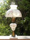 Vtg Hand Painted Floral PARLOR HURRICAN GONE WITH THE WIND LAMP SHADE GWTW