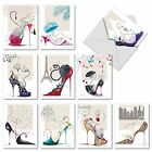 M2324 Catitude Shoes 10 Assorted Thank You Note Cards w White Envelopes card