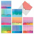 M3322 Love Lines 10 Assorted Blank Note Cards w White Envelopes greeting card