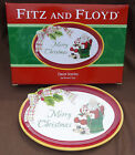 Fitz and Floyd Dear Santa Claus Sentiment Tray Merry Christmas New with Box