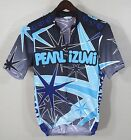 Vintage Pearl Izumi Cycling Jersey SMALL Blk Blue Stars Bike Cycle Mens