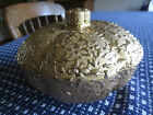 USA Vintage WEEPING-BRIGHT GOLD Candy or Trinket Dish w/Lid - 22K Hand Decorated
