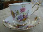 Beautiful Vintage New Chelsea Staffs Floral Pattern Gold Trim Tea Cup