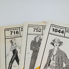 Vintage Pattern Lot Ann Person Stretch and Sew Sewing 1044 752 716 Jacket Jeans