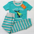 NEW Gymboree Boys Size 6 years Super Hero Turquoise Pants 2-Piece Pajamas Set