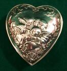 Beautiful heart shaped sterling silver box by William Comyns London 1904