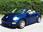 Volkswagen  Beetle New GLS 18L TURBO CONVERTIBLE 2DR COUPE FULLY LOADED NO RESERVE BUG LOW MILES LEATHER HEATED SEATS HEATED MIRRORS COLD A C KEYLESS