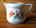 Vtg Hand painted Germany Creamer Mini Pitcher tableware flowers floral 3