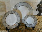 Waterford Ballet Encore 3 PIECE SET Dinner Salad Bread Plate Platinum ribbon