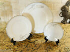 WATERFORD Ballet Jewels Platinum 3 PIECE SET Dinner Salad Bread Plates White