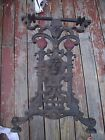 Antique Industrial Coffee Table Base Cast Iron Lion Head Fire Sconces Steampunk