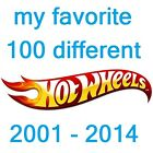 WOW !!! My Favorite 100 different MOC Hot Wheels lot collection $745 2001 - 2014
