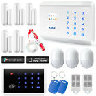 KERUI LCD Wireless&Wired GSM PSTN Home Alarm System+Keypad+Necklace Panic Button