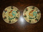 Lamas Italy Vtg Pottery Saffron Yellow Rooster Wall Hanging Folk Art Plates