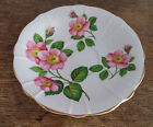 Windsor Bone China Alberta Wild Rose Pink Green Leaves England Saucer Only