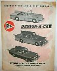1950's PYRO DESIGN A CAR BIG AUTO MODEL CAR KIT PLAYSET INSTRUCTION SHEET