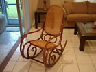 VINTAGE THONET STYLE CANE BENTWOOD ROCKING CHAIR * STAMPED