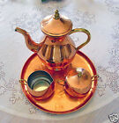 Solid Copper/Brass Tea/or Coffee Set, Made in Portugal