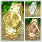 Geneva Fashion Women Ladies Girl Stainless Steel Band Analog Quartz Wrist Wat