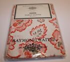 NEW RAYMOND WAITES TABLECLOTH 60 X 84 ORANGE CORAL CREAM FLORAL FREE SHIPPING