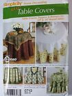 Simplicity 0713 Home Decorating Easy Table Covers, Toppers and runners NEW