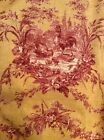 Waverly La Petite Ferme Spice Fabric Rooster Toile Red Yellow