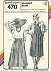 Vintage 1985 Stretch & Sew Uncut Pattern by Ann Person # 470 Pleated Skirt