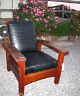 SUPERB  antique GUSTAV STICKLEY Bow Arm EARLY Morris Chair  w2949