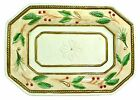 Fitz and Floyd Winter Wonderland Snack Tray Handcrafted Holiday Christmas Holly