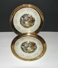 Set of 2 Sabin Crest-o-Gold Colonial Couple Warranted 22K 10