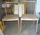 2 Vintage Hamilton Cosco Folding Chairs Gatefold Mid-Century Retro Card Table