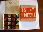 VINTAGE 15 PUZZLE IN BOX NUMBERS PUZZLE EMBOSSING CO. ALBANY N.Y.