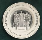 University of Illinois Alma Mater Centennial Plate 1867 - 1967 Limited Edition