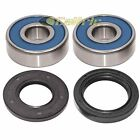 Front Wheel Ball Bearing And Seals Kit for Kawasaki ZN700 Ltd Shaft 1984 1985